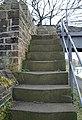 Well worn steps on bridge to nowhere - geograph.org.uk - 737947.jpg