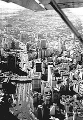 Vista aérea do Vale do Anhangabaú e arredores. São Paulo/SP