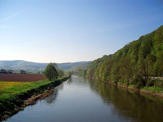 Werra River in central Germany