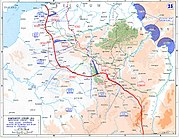 Map of the final Allied offensives