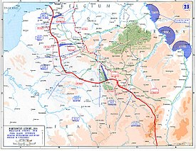 Allied gains in late 1918