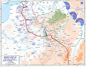 British Expeditionary Force (World War I) - The French, British, Belgian and American lines of attack, during the Hundred Days Offensive