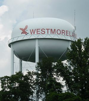 Westmoreland, Tennessee - Watertower in Westmoreland