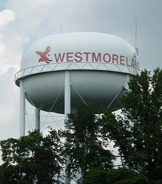 Westmoreland, Tennessee - Watertower in Westmoreland