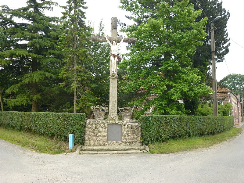 Westrehem (Pas-de-Calais, Fr) croix de chemin