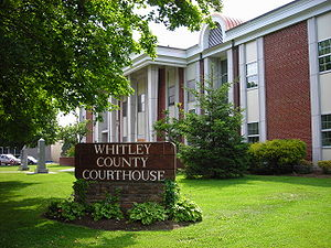 Whitley County courthouse in Williamsburg