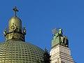 Wien - Otto-Wagner-Kirche am Steinhof - Kuppel und hl Leopold.jpg