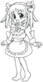 Wikipe-tan full length bw.png