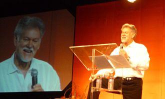 Warren Farrell - Farrell addressing world conference of spiritual leaders, 2010
