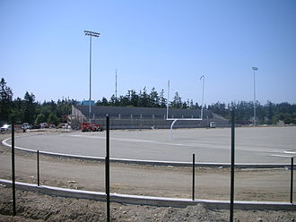 Oak Harbor High School (Washington) - Wildcat Memorial Stadium under construction