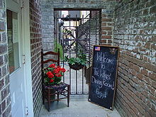 Entrance To Mrs Wilke S Dining Room In Savannah Georgia