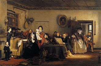1820 in Scotland - Image: Wilkie, David Reading the Will 1820