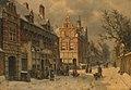 Willem Koekkoek - Stadsgezicht in de winter - SA 23306 - Amsterdam Museum.jpg