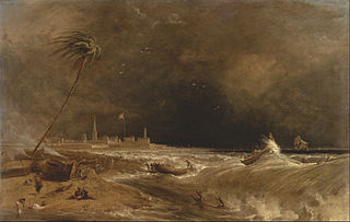 Madras, or Fort St. George, in the Bay of Bengal -- A Squall Passing Off