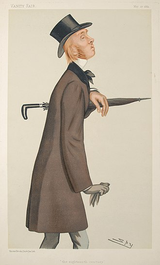 William Edward Hartpole Lecky - Caricature by Spy published in Vanity Fair in 1882.