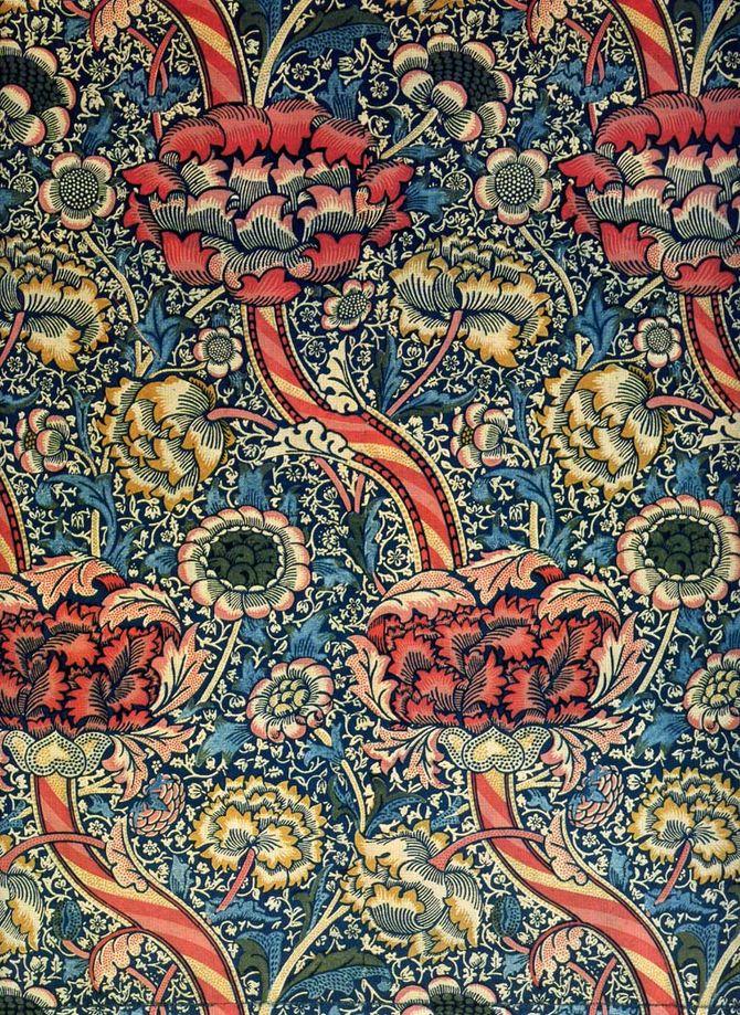 'Wandle' textile design by William Morris, pro...