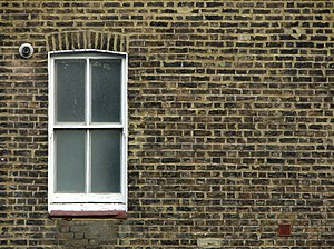 A sash window in Paddington, City of Westminst...