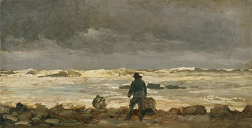 Winslow Homer - Rocky Coast (Maine Coast)