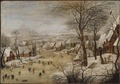 Winter Landscape with Skaters and a Bird Trap (Pieter Bruegel d.y.) - Nationalmuseum - 21111.tif