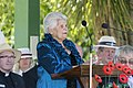 Wiradjuri Elder, Aunty Isobel Reid, giving the Welcome to Country at the Centenary of the Kangaroo March launch.jpg