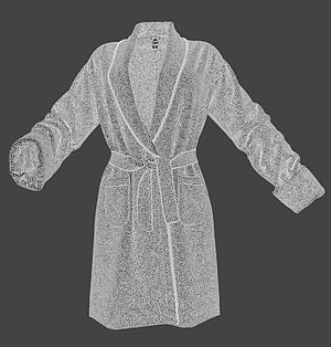 Wire-frame model - Image: Wireframe Render of Digital Clothing Bathingrobe 3D Model