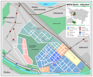 "Adlershof - Map of the development area ""Wista Berlin-Adlershof"""