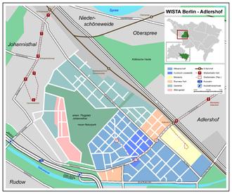 "Adlershof - Map of the development area ""Wista Berlin-Adlershof"""