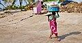 Woman with fish, Uttan - Velankanni Beach.jpg