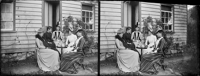 File:Women having tea outside the house of William and Lydia Williams in Napier, between 1888-1899 (3588480640).jpg