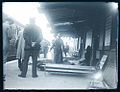 Wounded soldiers on railway platform - WW1, Andover? (5093897899).jpg