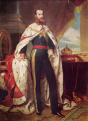 Chapultepec Castle - Maximilian I of Mexico by Winterhalter, 1864. This portrait hangs in the castle today