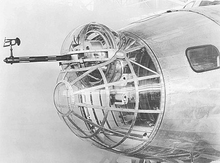 The XB-15's .50 in (12.7 mm) front gun turret. - Boeing XB-15