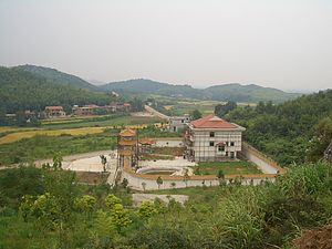 "Xian'an District - An ""ancient temple"" under construction"