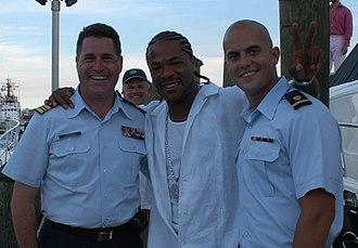 Xzibit - Xzibit with members of the United States Coast Guard, 2004