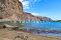 Yachts in the North Atlantic Ocean at Playa De Vueltas beach on La Gomera, Spain (48293849157).jpg
