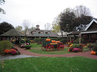 Yankee Candle - The grounds outside the candle making museum.