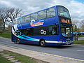 Yorkshire Coastliner bus Volvo B9TL Wright Eclipse Gemini FJ08 BY- Goathland 2 May 2009.JPG
