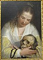 Young Woman Contemplating a Skull by Alessandro Casolani - Statens Museum for Kunst - DSC08131.JPG