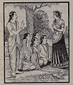 Yudhistira telling to Hidimbi about rules of Marriage.jpg