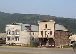 Het Yukon Hotel in Dawson City