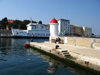 D407 road - Zadar ferry port