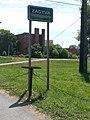 Zagyva sign, Route 3, 2017 Hatvan.jpg