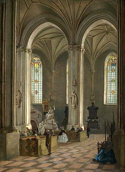 Peinture de l'intérieur de Saint Jean vers 1850
