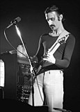 Zappa performing in Ekeberghallen, Oslo, on January 16, 1977