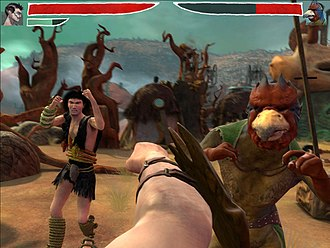 Beat 'em up - Zeno Clash features beat 'em up gameplay from a first-person perspective
