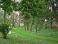 Zespół zamku Radziwiłłów (XVIIw.,XIXw.) (wały obronne z fosą) (fot. 3) - Biała Podlaska ul. Warszawska woj. lubelskie ArPiCh A-134.JPG