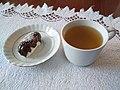 Zielona herbata z ciastkiem kokosowym - maj 2019.jpg