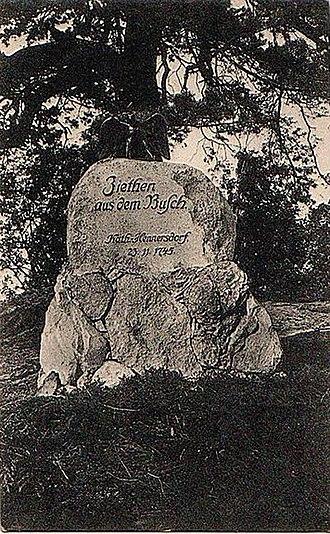 Battle of Hennersdorf - Memorial stone of Hans Joachim von Zieten in Hennersdorf
