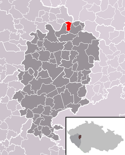 Location of Zvíkovec
