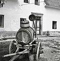 """""""Bačn"""" za vodo+ lij+ lesen korec za zajemanje vode, Viševek 1962 (2).jpg"""